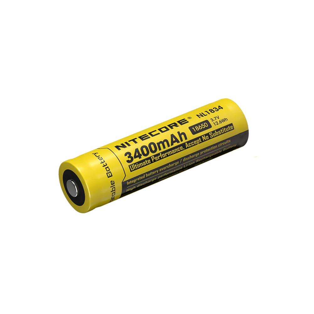 Nitecore 3400mah Nl1834 18650 Battery Apex Protection Circuit